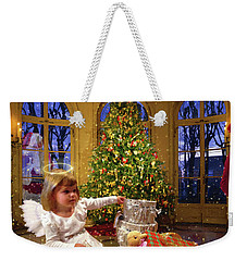 Annalise And Santa Weekender Tote Bag