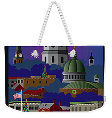 Annapolis Holiday With Title Weekender Tote Bag