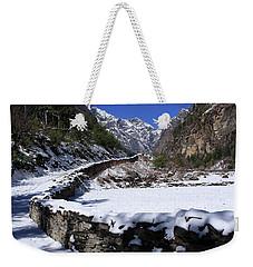 Weekender Tote Bag featuring the photograph Annapurna Circuit Trail by Aidan Moran