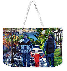 Anna's Grandpa's 2 Weekender Tote Bag by Marilyn McNish