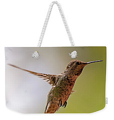 Weekender Tote Bag featuring the photograph Anna's Hummingbird H24 by Mark Myhaver