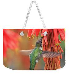 Weekender Tote Bag featuring the photograph Annas Garden by John F Tsumas