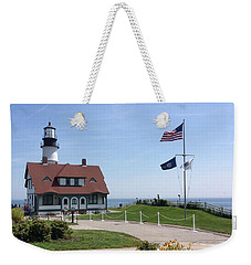 Portland Lighthouse ----- Edit Weekender Tote Bag