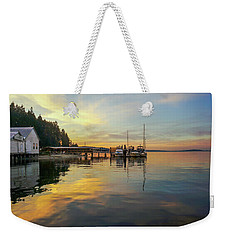 Weekender Tote Bag featuring the photograph Anniversary Sunset by Ronda Broatch