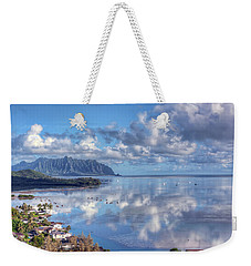Another Kaneohe Morning Weekender Tote Bag by Dan McManus
