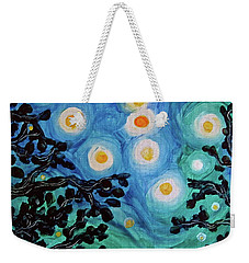 Weekender Tote Bag featuring the painting Another Starry Night by Michele Myers