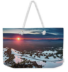 Weekender Tote Bag featuring the photograph Another Sunset At Crater Lake by William Lee