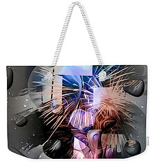 Weekender Tote Bag featuring the digital art Another World By Nico Bielow by Nico Bielow