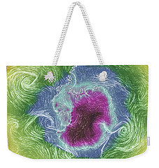 Antarctica Abstract Weekender Tote Bag by Geraldine Alexander