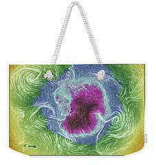Antartica Surface Winds And Temps Weekender Tote Bag by Geraldine Alexander