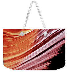 Weekender Tote Bag featuring the photograph Antelope Canyon by Lorella Schoales