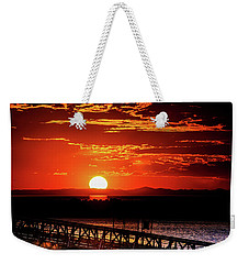 Antelope Island Marina Sunset Weekender Tote Bag