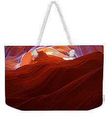Weekender Tote Bag featuring the photograph Antelope View by Jonathan Davison