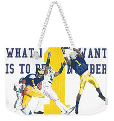 Anthony Carter And Braylon Edwards, #1 Weekender Tote Bag
