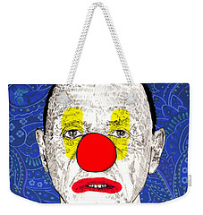 Weekender Tote Bag featuring the drawing Anthony Hopkins by Jason Tricktop Matthews