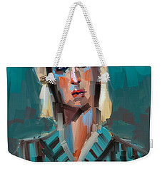 Weekender Tote Bag featuring the digital art Anthony by Jim Vance