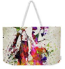 Anthony Kiedis In Color Weekender Tote Bag by Aged Pixel