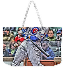 Anthony Rizzo Chicago Cubs Weekender Tote Bag by Joe Hamilton