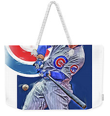 Anthony Rizzo Chicago Cubs Oil Art Weekender Tote Bag