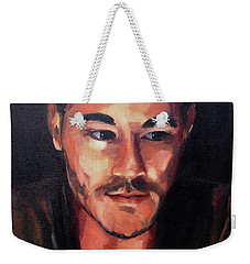 Weekender Tote Bag featuring the painting Anticipation by Diane Daigle