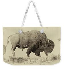 Antique Bison Weekender Tote Bag