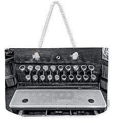 Weekender Tote Bag featuring the photograph Antique Cash Register 1 by James Aiken