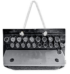 Weekender Tote Bag featuring the photograph Antique Cash Register 3 by James Aiken