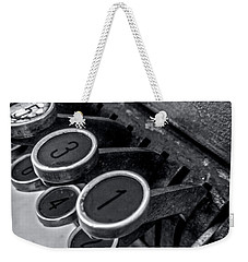 Weekender Tote Bag featuring the photograph Antique Cash Register 4 by James Aiken