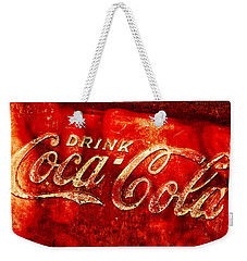 Antique Coca-cola Cooler Weekender Tote Bag