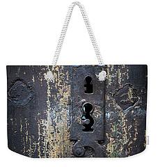 Weekender Tote Bag featuring the photograph Antique Door Lock Detail by Elena Elisseeva