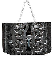 Weekender Tote Bag featuring the photograph Antique Door Lock by Elena Elisseeva