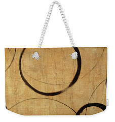 Weekender Tote Bag featuring the painting Antique Ensos by Julie Niemela