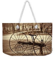 Antique Farm Rake In Sepia Weekender Tote Bag