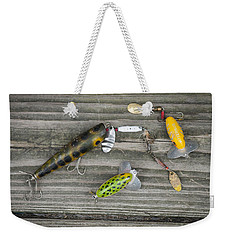 Antique Fishing Lures Weekender Tote Bag