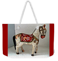 Antique Folk Art Horse Weekender Tote Bag