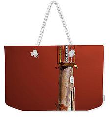 Antique Gas Pump Weekender Tote Bag by Phyllis Denton