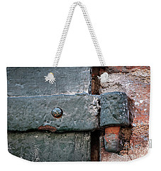 Weekender Tote Bag featuring the photograph Antique Hinge by Elena Elisseeva