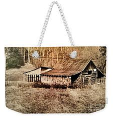 Antique Log Beam Barn Southern Indiana Weekender Tote Bag by Scott D Van Osdol