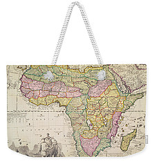 Antique Map Of Africa Weekender Tote Bag by Pieter Schenk