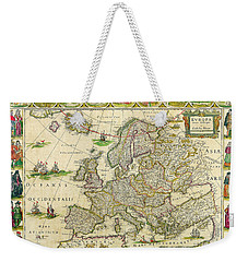 Antique Maps Of The World Map Of Europe Willem Blaeu C 1650 Weekender Tote Bag