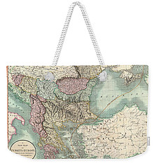 Antique Maps - Old Cartographic Maps - Antique Map Of Turkey In Europe, Greece And The Balkans, 1801 Weekender Tote Bag
