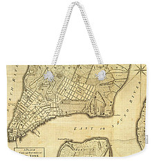 Antique Maps - Old Cartographic Maps - City Of New York And Its Environs Weekender Tote Bag