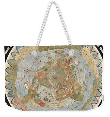 Antique Maps - Old Cartographic Maps - Flat Earth Map - Map Of The World Weekender Tote Bag