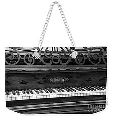 Antique Piano Black And White Weekender Tote Bag