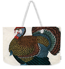 Antique Print Of A Turkey, 1859  Weekender Tote Bag