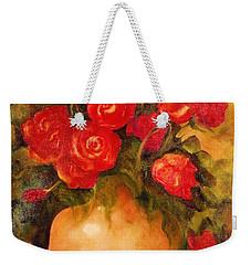 Antique Red Roses Weekender Tote Bag
