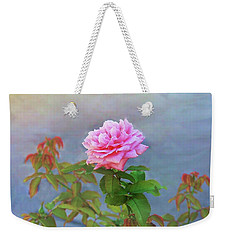 Weekender Tote Bag featuring the photograph Antique Rose by Ellen O'Reilly