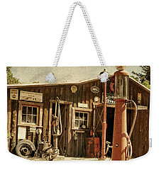 Antique Service Station Weekender Tote Bag