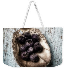 Antique Spoon And Buleberries Weekender Tote Bag by Garry Gay
