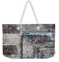 Weekender Tote Bag featuring the photograph Antique Stone Wall Detail by Elena Elisseeva